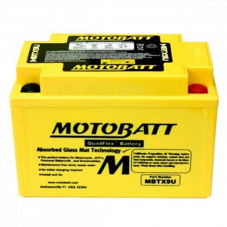 AKUMULATOR MOTOCYKLOWY 12V 10.5AH/160A P+ 151X87X105/110 MOTOBATT QUADFLEX 4 BIEGUNY MBTX9U