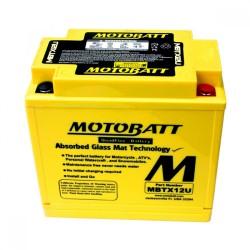 AKUMULATOR MOTOCYKLOWY 12V 14AH/200A P+ 151X87X130/145 MOTOBATT QUADFLEX 4 BIEGUNY MBTX12U
