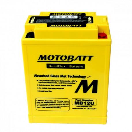 AKUMULATOR MOTOCYKLOWY 12V 15AH/160A P+ 135X80X161/175 MOTOBATT QUADFLEX 4 BIEGUNY MB12U