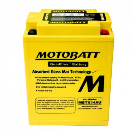 AKUMULATOR MOTOCYKLOWY 12V 16.5AH/210A P+ 135X90X168/176 MOTOBATT QUADFLEX 4 BIEGUNY MBTX14AU