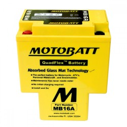AKUMULATOR MOTOCYKLOWY 12V 19AH/200A L+ 151X91X181/181 MOTOBATT QUADFLEX 2 BIEGUNY MB16A