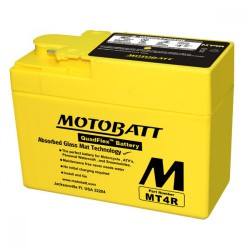 AKUMULATOR MOTOCYKLOWY 12V 2.5AH/45A2 114X49X86/86 MOTOBATT QUADFLEX 2 BIEGUNY MT4R