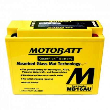 AKUMULATOR MOTOCYKLOWY 12V 20.5AH/230A P+ 207X72X164/164 MOTOBATT QUADFLEX 2 BIEGUNY MB16AU