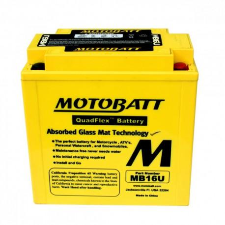 AKUMULATOR MOTOCYKLOWY 12V 20AH/240A P+ 160X90X161/161 MOTOBATT QUADFLEX 4 BIEGUNY MB16U