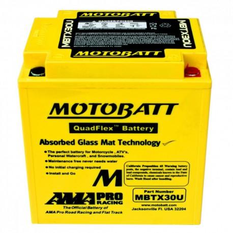 AKUMULATOR MOTOCYKLOWY 12V 32AH/390A P+ 166X126X175/192 MOTOBATT QUADFLEX 4 BIEGUNY MBTX30U