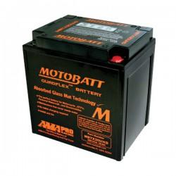 AKUMULATOR MOTOCYKLOWY 12V 32AH/390A P+ 166X126X175/192 MOTOBATT QUADFLEX 4 BIEGUNY MBTX30UHD