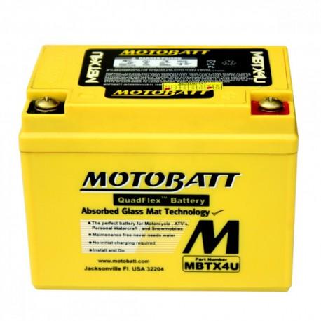 AKUMULATOR MOTOCYKLOWY 12V 4.7AH/70A P+ 114X70X87/87 MOTOBATT QUADFLEX 2 BIEGUNY MBTX4U