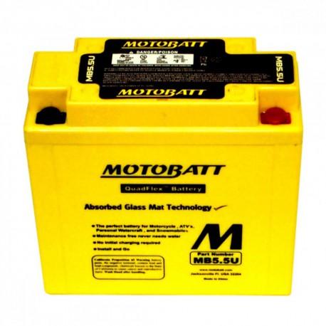 AKUMULATOR MOTOCYKLOWY 12V 5.5AH/90A P+ 135X60X130/130 MOTOBATT QUADFLEX 4 BIEGUNY MB5.5U