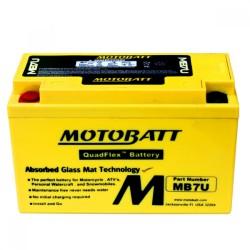 AKUMULATOR MOTOCYKLOWY 12V 6.5AH/100A L+ 151X65X94/94 MOTOBATT QUADFLEX 2 BIEGUNY MB7U