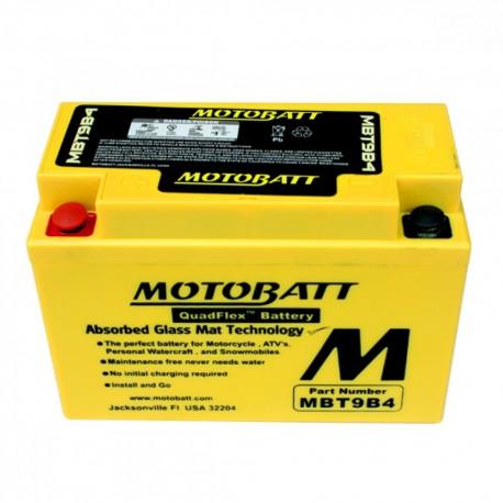 AKUMULATOR MOTOCYKLOWY 12V 9AH/115A L+ 150X70X104/104 MOTOBATT QUADFLEX 2 BIEGUNY ADAPTERY FIT SPACER MBT9B4