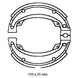 SZCZĘKI HAMULCOWE MOTOCYKL SUZUKI 110X25 NHC MBS3306-CU1
