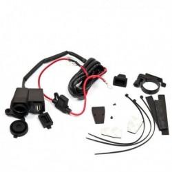 GNIAZDO MOTOCYKLOWE Z USB WEJŚCIE DC 12-24V WYJŚCIE DC 5V 2.1A DŁUGOŚĆ KABLA 1,5 M ROZ000005