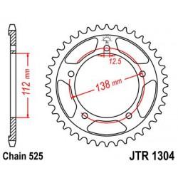 ZĘBATKA NAPĘDZANA TYŁ MOTOCYKLOWA STALOWA JTR1304.45