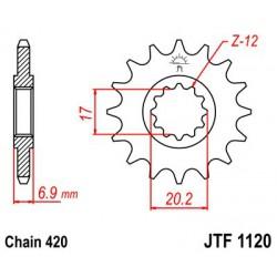 ZĘBATKA NAPĘDOWA PRZÓD MOTOCYKLOWA STALOWA JTF1120.12