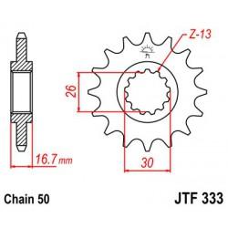 ZĘBATKA NAPĘDOWA PRZÓD MOTOCYKLOWA STALOWA JTF333.16