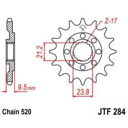 ZĘBATKA NAPĘDOWA PRZÓD MOTOCYKLOWA STALOWA JTF284.13SC
