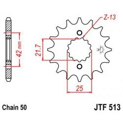 ZĘBATKA NAPĘDOWA PRZÓD MOTOCYKLOWA STALOWA JTF513.16