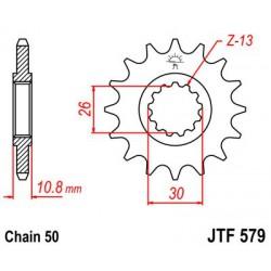 ZĘBATKA NAPĘDOWA PRZÓD MOTOCYKLOWA STALOWA JTF579.16