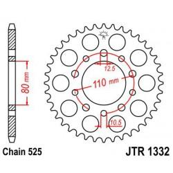 ZĘBATKA NAPĘDZANA TYŁ MOTOCYKLOWA STALOWA JTR1332.45