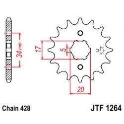 ZĘBATKA NAPĘDOWA PRZÓD MOTOCYKLOWA STALOWA JTF1264.15
