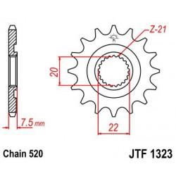 ZĘBATKA NAPĘDOWA PRZÓD MOTOCYKLOWA STALOWA JTF1323.14SC