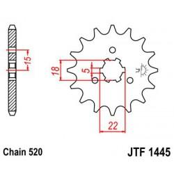 ZĘBATKA NAPĘDOWA PRZÓD MOTOCYKLOWA STALOWA JTF1445.13SC
