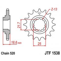 ZĘBATKA NAPĘDOWA PRZÓD MOTOCYKLOWA STALOWA JTF576.17