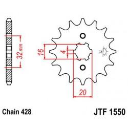 ZĘBATKA NAPĘDOWA PRZÓD MOTOCYKLOWA STALOWA JTF1550.14
