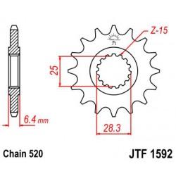 ZĘBATKA NAPĘDOWA PRZÓD MOTOCYKLOWA STALOWA JTF1592.14