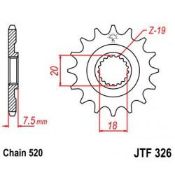 ZĘBATKA NAPĘDOWA PRZÓD MOTOCYKLOWA STALOWA JTF326.13