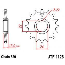 ZĘBATKA NAPĘDOWA PRZÓD MOTOCYKLOWA STALOWA JTF1126.16
