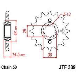 ZĘBATKA NAPĘDOWA PRZÓD MOTOCYKLOWA STALOWA JTF339.18