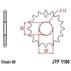 ZĘBATKA NAPĘDOWA PRZÓD MOTOCYKLOWA STALOWA JTF1180.17
