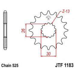 ZĘBATKA NAPĘDOWA PRZÓD MOTOCYKLOWA STALOWA JTF1183.17