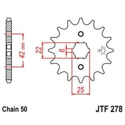 ZĘBATKA NAPĘDOWA PRZÓD MOTOCYKLOWA STALOWA JTF278.17