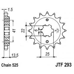 ZĘBATKA NAPĘDOWA PRZÓD MOTOCYKLOWA STALOWA JTF293.15