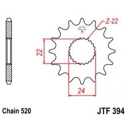 ZĘBATKA NAPĘDOWA PRZÓD MOTOCYKLOWA STALOWA JTF394.13