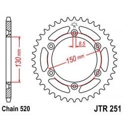 ZĘBATKA NAPĘDZANA TYŁ MOTOCYKLOWA STALOWA JTR251.49