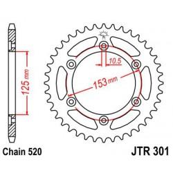 ZĘBATKA NAPĘDZANA TYŁ MOTOCYKLOWA STALOWA JTR301.48