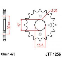 ZĘBATKA NAPĘDOWA PRZÓD MOTOCYKLOWA STALOWA JTF1256.14
